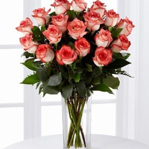 Роза бело розовая Блаш букет
