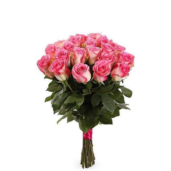 Роза бело розовая Джумилия букет 21 шт 50 см