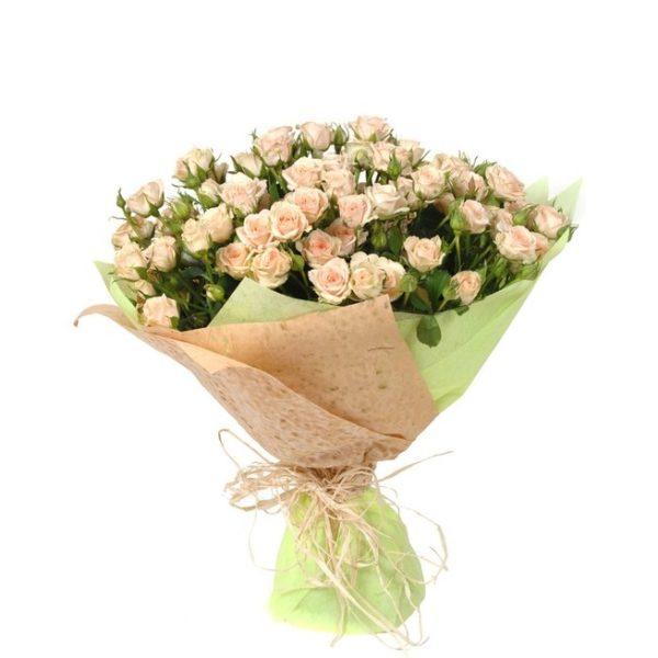 Роза кремовая спрей Яна букет 20 шт