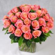 Роза розовая Мисс Пигги букет