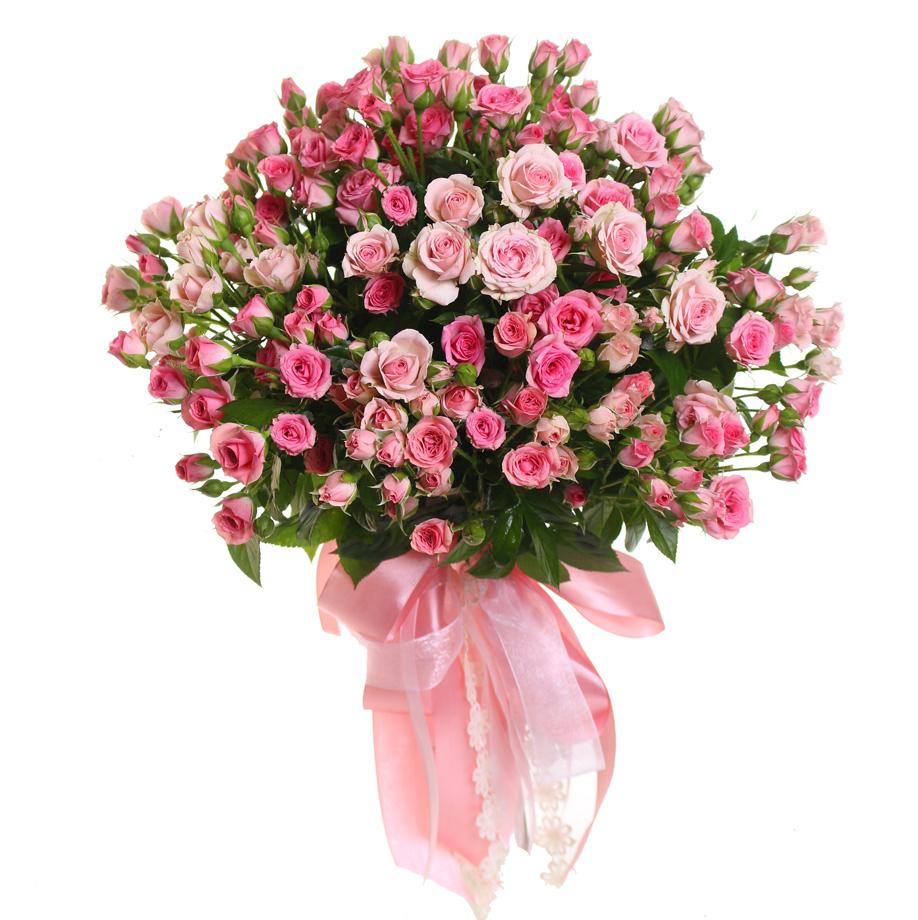 Роза розовая спрей Грация букет