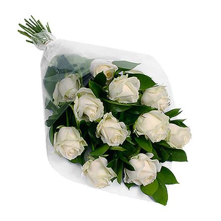 Роза белая Аваланж букет 21 шт 80 см