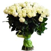 Роза белая Аваланж букет