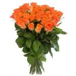 Роза оранжевая Вау