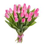 Тюльпаны розовые букет 19 шт