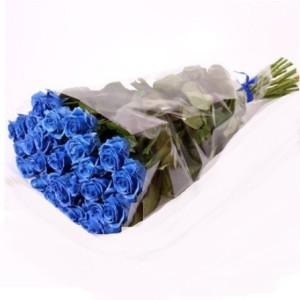 Букет синие розы 21 шт