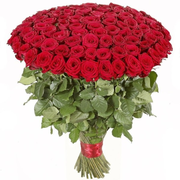 Букет 101 роза красная Гранд При