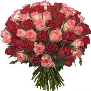 Букет 51 роза импорт микс №2
