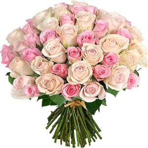 Букет 51 роза импорт микс №1