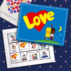 Шоколадный набор Love is 60 грамм