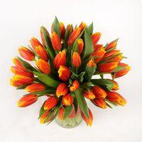 Тюльпаны красные букет 25 шт