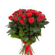 Роза алая Эль Торо букет 21 шт 60 см