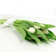Тюльпаны белые букет 11 шт