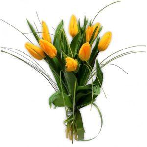 Тюльпаны желтые букет 11 шт