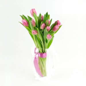 Тюльпаны розовые букет 11 шт