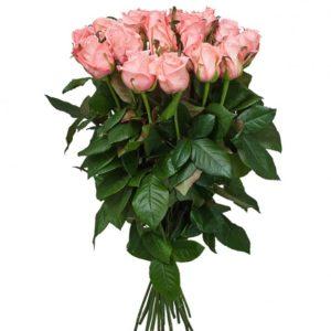 Роза розовая Карина букет 21 шт 70 см