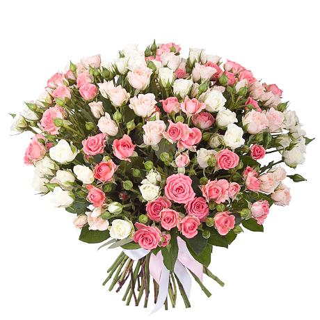 Роза спрей МИКС букет 39 шт 40 см