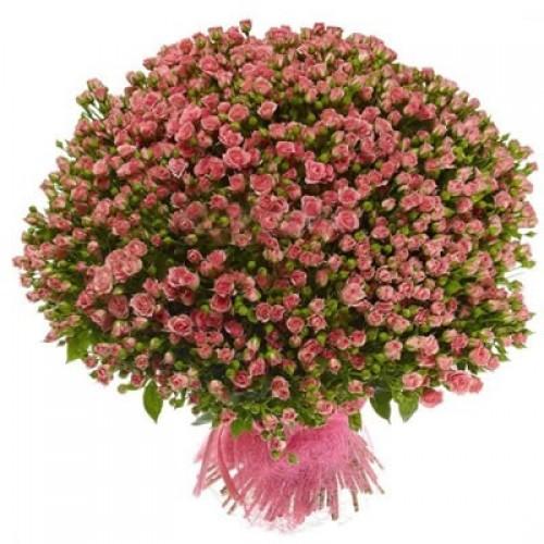 Роза спрей букет 101 шт 60 см