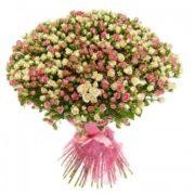 Роза спрей МИКС букет 59 шт 40 см