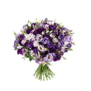 Букет Эустома 40 см 19 шт фиолетовая