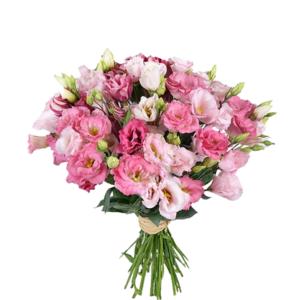 Букет Эустома 40 см 19 шт розовая