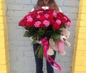 доставка цветов роза 21
