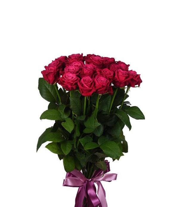 Розы малиновые Шангри Ла букет 21 шт 80 см