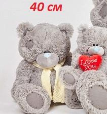 Мишка Тедди с шарфом 40 см