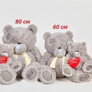 Мишка Тедди с шарфом 60 см